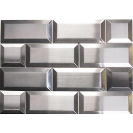 """Oddysey Subway 3""""× 6""""  Stainless Steel Mosaic"""