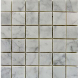 Carrara White 2x2 Polished Mosaic