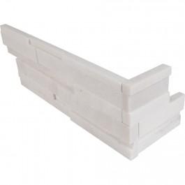 Arctic White Corner Ledger Panel 6x8x6 Split Face