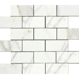 Calacutta 2x4 Brick Polished Mosaic