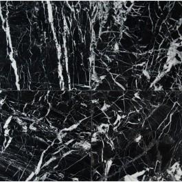 China Black With Vein 12X12 Polished