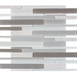 Clayton 12x12 Glass Mixed Blend Mosaic