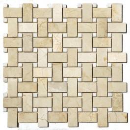 Crema Marfil 12x12 basketweave Polished Mosaic