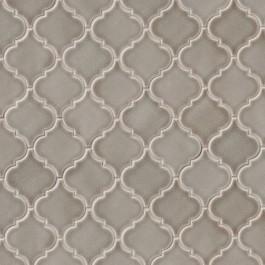 Dove Gray Arabesque Ceramic 8mm Tile