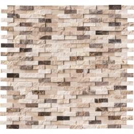 Emperador Blend Pattern Splitface Interlocking Mosaic
