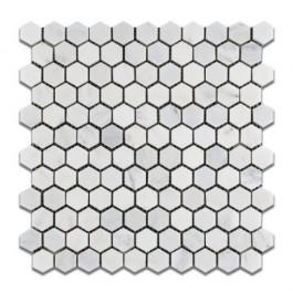 Oriental White 1x1 Hexagon Polished Mosaic