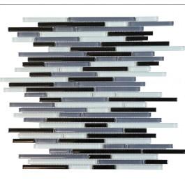 Grey Shadow 12x12 Interlocking Blend Mosaic