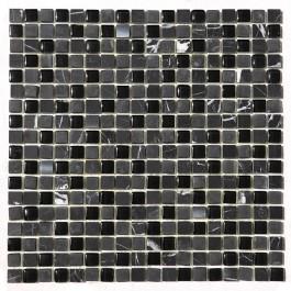 China Black 5/8x5/8 Steel Blend Mosaic