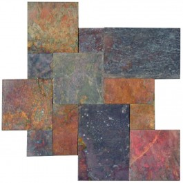 Multi Classic Gauged Tile French Pattern 16 sft/kit