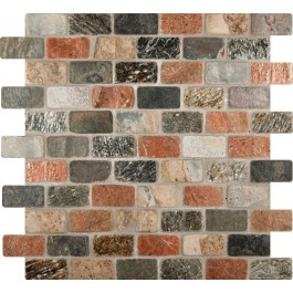 Mixed Slate Brick 1x2 Tumbled