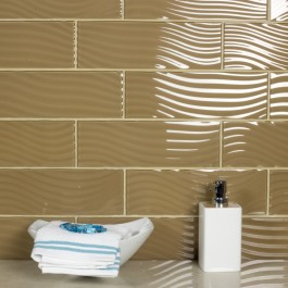 Pacific Collection Sepia 4x12 Glossy Glass Subway Tile