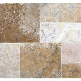 Porcini 16 Sqft French Pattern Honed Unfilled And Chipped