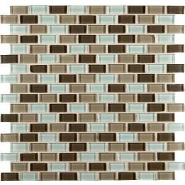 Scenice Valley Mini Brick Interlocking Glass Mosaic