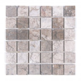 Temple Gray 2x2 Polished Marble Mosaic