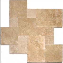 Tuscany Walnut French Pattern 16 Sft x 10 Kits Honed Unfilled Tumbled Paver