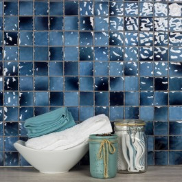 Waterfall Collection 2 x 2 Caribbean Glass Tile