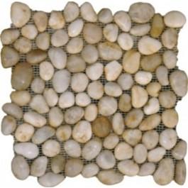 White 12x12 Polished Pebble