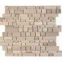 Athens Gray 12x12 Honed Interlocking Mosaic