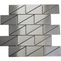 Odyssey Subway 2x4 Stainless Steel Mosaic