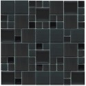 Stainless Steel Magic Pattern Mosaic 12x12 Black