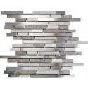Odyssey Tundra 12x12 Interlocking Blend Stainless Steel Mosaic