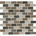 Sandy Beaches Blend 1X2X8MM Crackled Glass Mosaic