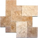 Tuscany Beige French Pattern 16 Sft Tumbled Floor Tile