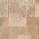 Tuscany Walnut 16 Sft Honed Unfilled Chiseled Brushed French Pattern Tile