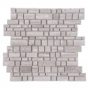 Wooden White 12x12 Multi Square Honed Mosaic