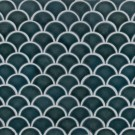 Artisan Taupe Arabesque Glossy Ceramic Tile