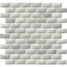 Carrara White 1x2 3D Polished Marble Mosaic