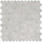 Carrara White 2x2 Hexagon Polished Mosaic Tile