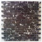 China Black Interlocking 12x12 Mosaic