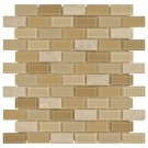 Festival Gela Polished Brick Glass Mosaic