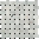 Arabescato Carrara Basketweave Pattern Honed
