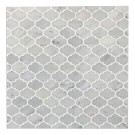 Mini Arabesque Carrara White Polished Waterjet Mosaic
