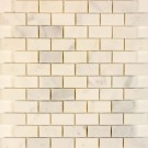 Oriental White Brick Pattern Statuary 1x2 Polished Mosiac