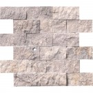 Silver Travertine 2x4 Split Face Travertine Mosaic