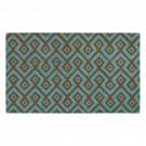 Square Aqua Natural Coir 18X30 Door Mat
