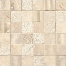 Tuscany Alabastrino 2x2 Mixed Finish Travertine Mosaic